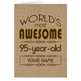 95th Birthday Celebration World Best Fabulous Greeting Card