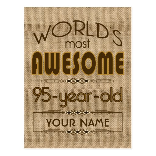 95th Birthday Celebration World Best Fabulous Post Card