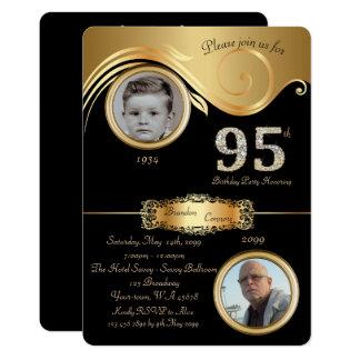95th,Birthday Man 95th,elegant art deco,purple Card