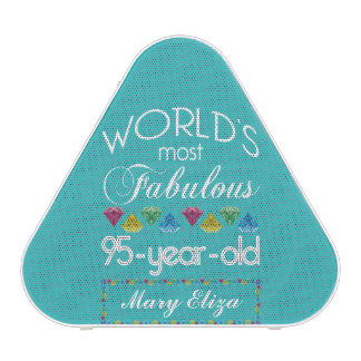 95th Birthday Most Fabulous Colorful Gem Turquoise Speaker