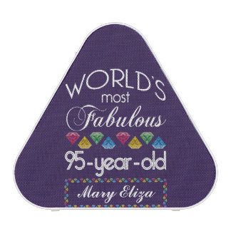 95th Birthday Most Fabulous Colorful Gems Purple Bluetooth Speaker