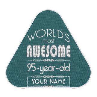 95th Birthday Worlds Best Fabulous Dark Green Bluetooth Speaker