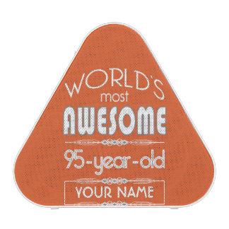 95th Birthday Worlds Best Fabulous Flame Orange Speaker