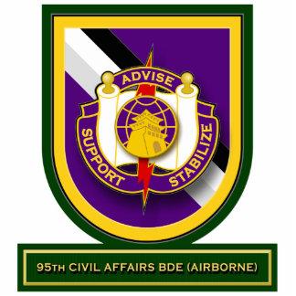 95th Civil Affairs Brigade - Airborne flash Standing Photo Sculpture