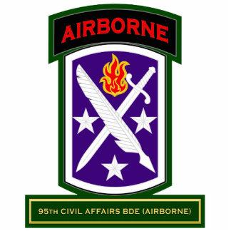 95th Civil Affairs Brigade - Airborne SSI Standing Photo Sculpture
