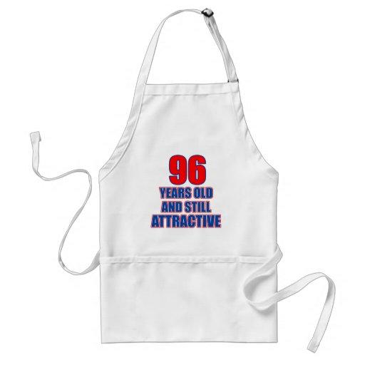 96 birthday design apron