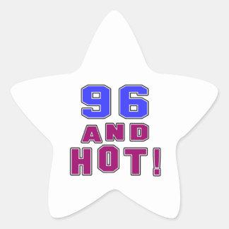 96 birthday designs star sticker