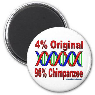 96% chimp 6 cm round magnet