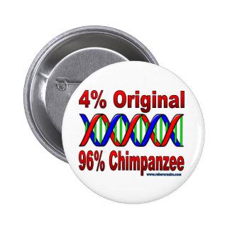 96% chimp 6 cm round badge