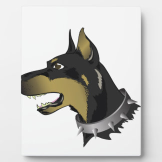 96Angry Dog _rasterized Plaque