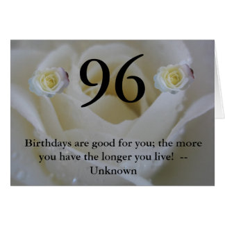 96th Birthday Card