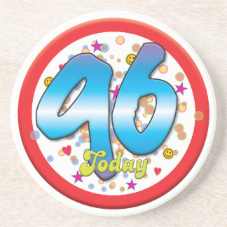 96th Birthday Today Beverage Coasters