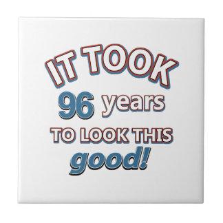 96th year birthday designs tile