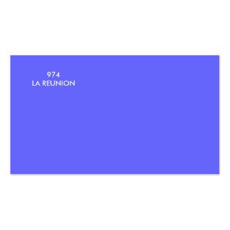 974LA RÉUNION PACK OF STANDARD BUSINESS CARDS