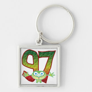97 Age Ghoul Silver-Colored Square Key Ring