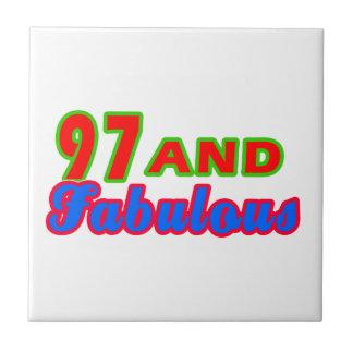 97 and Fabulous Birthday Designs Ceramic Tile