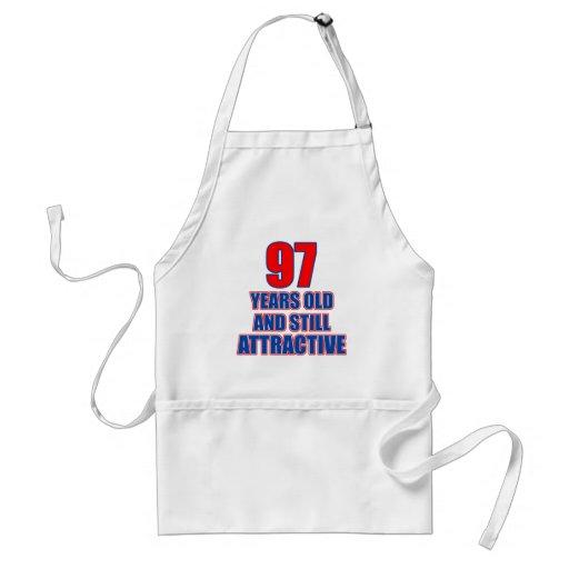 97 birthday design aprons