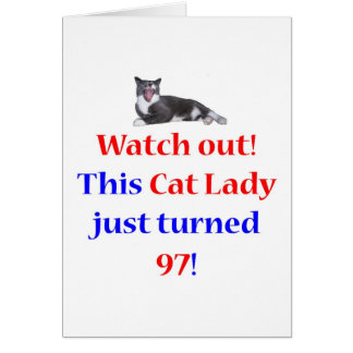97 Cat Lady Card