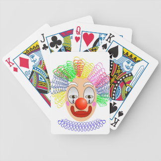 97Clown Head_rasterized Bicycle Playing Cards