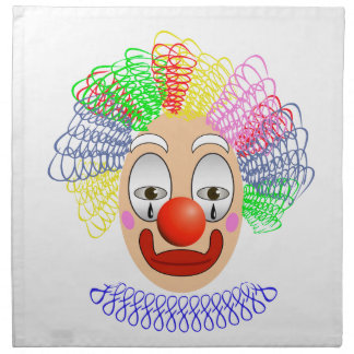 97Clown Head_rasterized Napkin