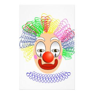97Clown Head_rasterized Stationery
