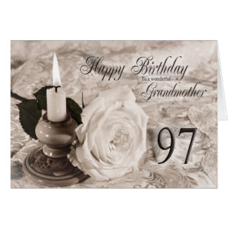 97th Birthday card for Grandmother