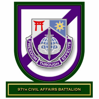 97th Civil Affairs Battalion flash Standing Photo Sculpture