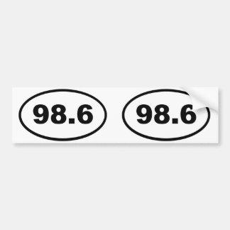 98.6 BUMPER STICKER