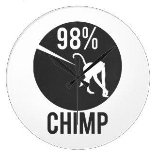 98% chimp large clock