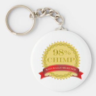 98% Chimp - Naturally Selected Basic Round Button Key Ring