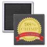 98% Chimp - Naturally Selected Square Magnet
