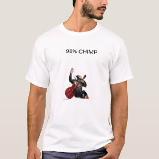98% CHIMP PLAY GUITAR T-Shirt