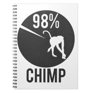 98% chimp spiral notebook