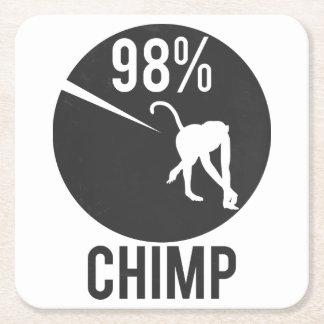 98% chimp square paper coaster