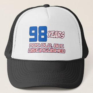 98 YEAR OLD BIRTHDAY DESIGNS TRUCKER HAT
