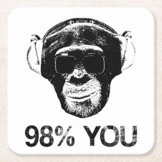 98% YOU SQUARE PAPER COASTER