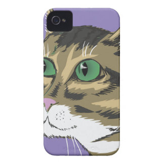 98Cat Head_rasterized iPhone 4 Case-Mate Cases