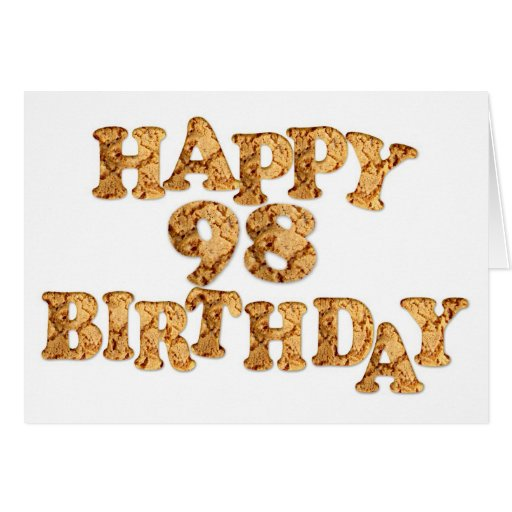 98th Birthday card for a cookie lover