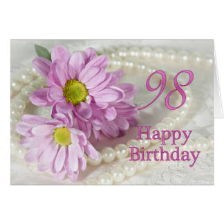 98th Birthday card with daisies
