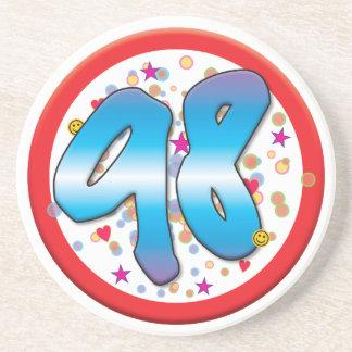 98th Birthday Beverage Coasters