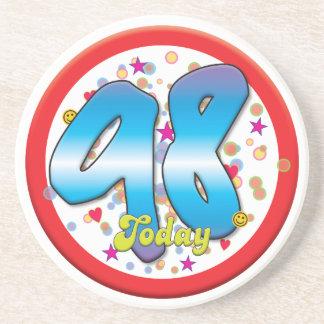 98th Birthday Today Beverage Coasters