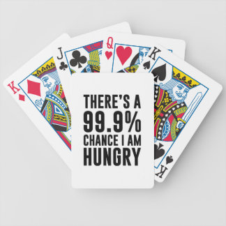 99.9 Chance I'm Hungry Bicycle Playing Cards