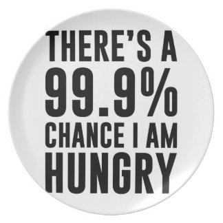 99.9 Chance I'm Hungry Plate