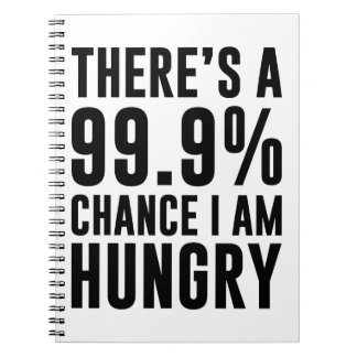 99.9 Chance I'm Hungry Spiral Notebook