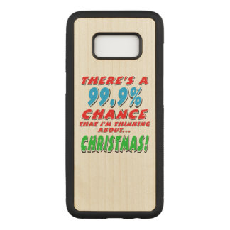 99.9% CHRISTMAS (blk) Carved Samsung Galaxy S8 Case
