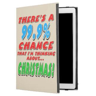 "99.9% CHRISTMAS (blk) iPad Pro 12.9"" Case"