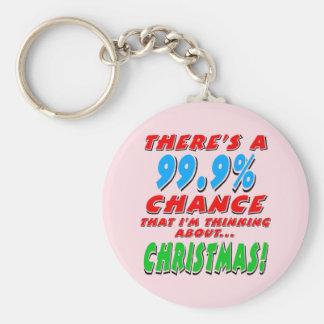 99.9% CHRISTMAS (blk) Key Ring