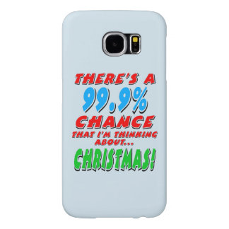99.9% CHRISTMAS (blk) Samsung Galaxy S6 Cases