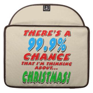 99.9% CHRISTMAS (blk) Sleeve For MacBooks