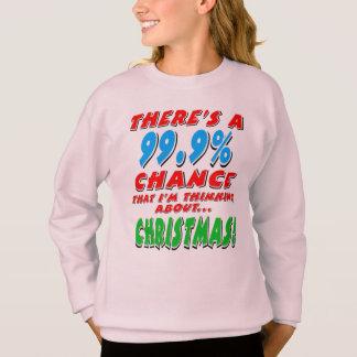 99.9% CHRISTMAS (blk) Sweatshirt